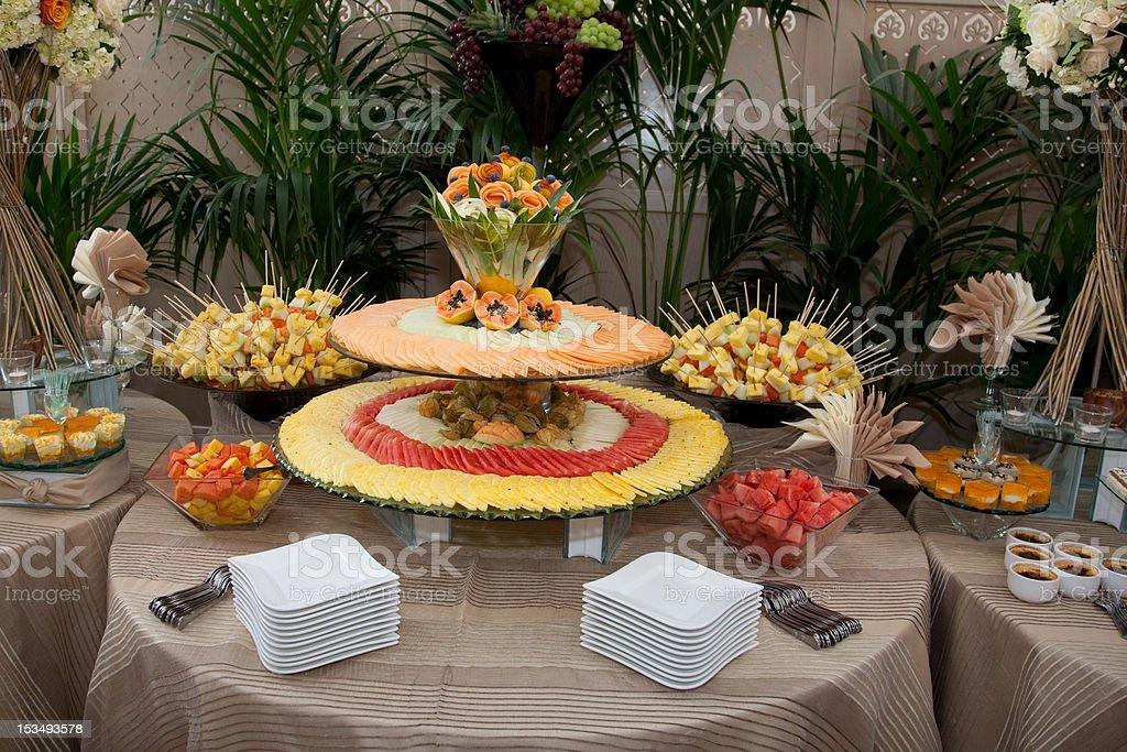 Buffet Fruit Decoration royalty-free stock photo