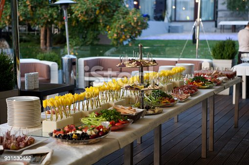 istock Buffet line of lunch and dinner.Buffet self-service food 931530452