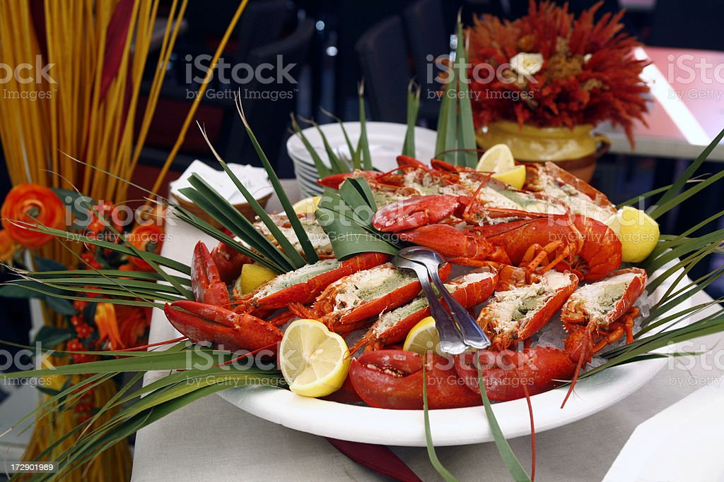 Buffet lobster plat royalty-free stock photo