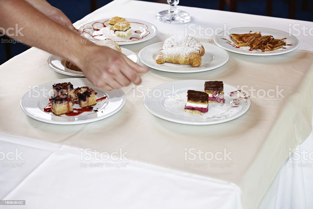 Buffet lunch serving of desserts royalty-free stock photo