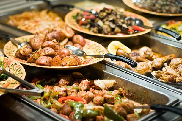 - buffet - pasta deli stock-fotos und bilder