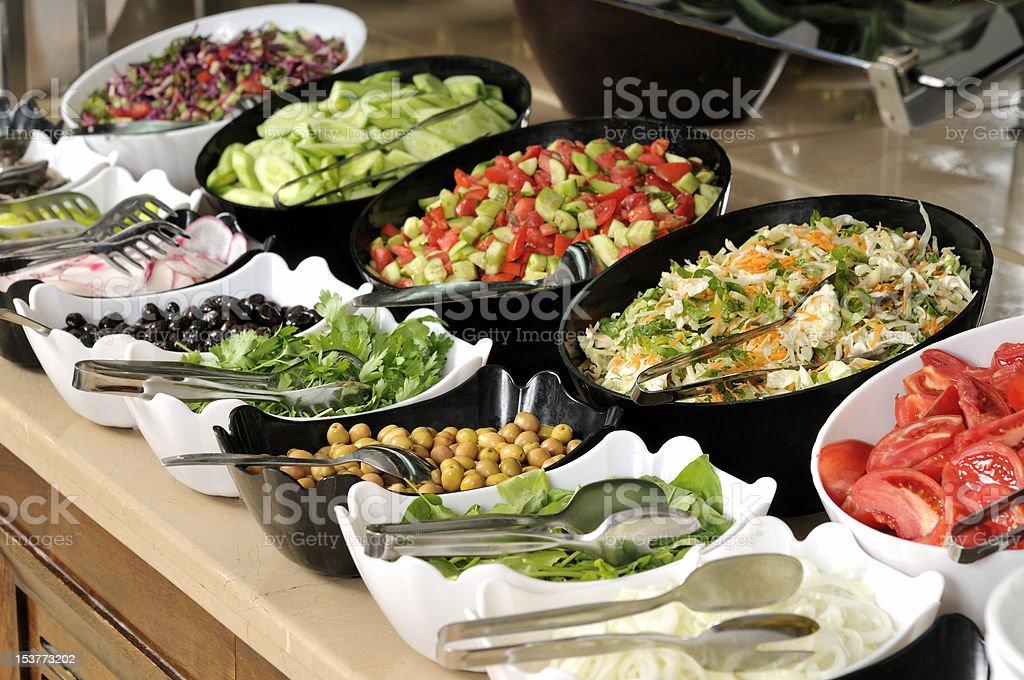 Buffet style food stock photo
