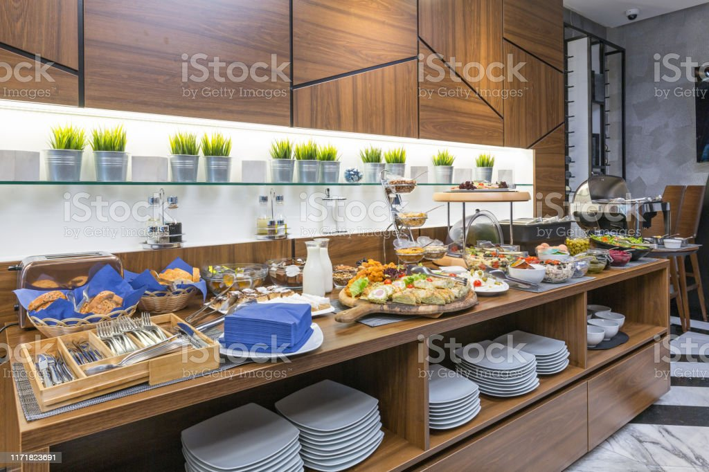 Buffet Table Breakfast In A Hotel Restaurant Stock Photo Download Image Now Istock