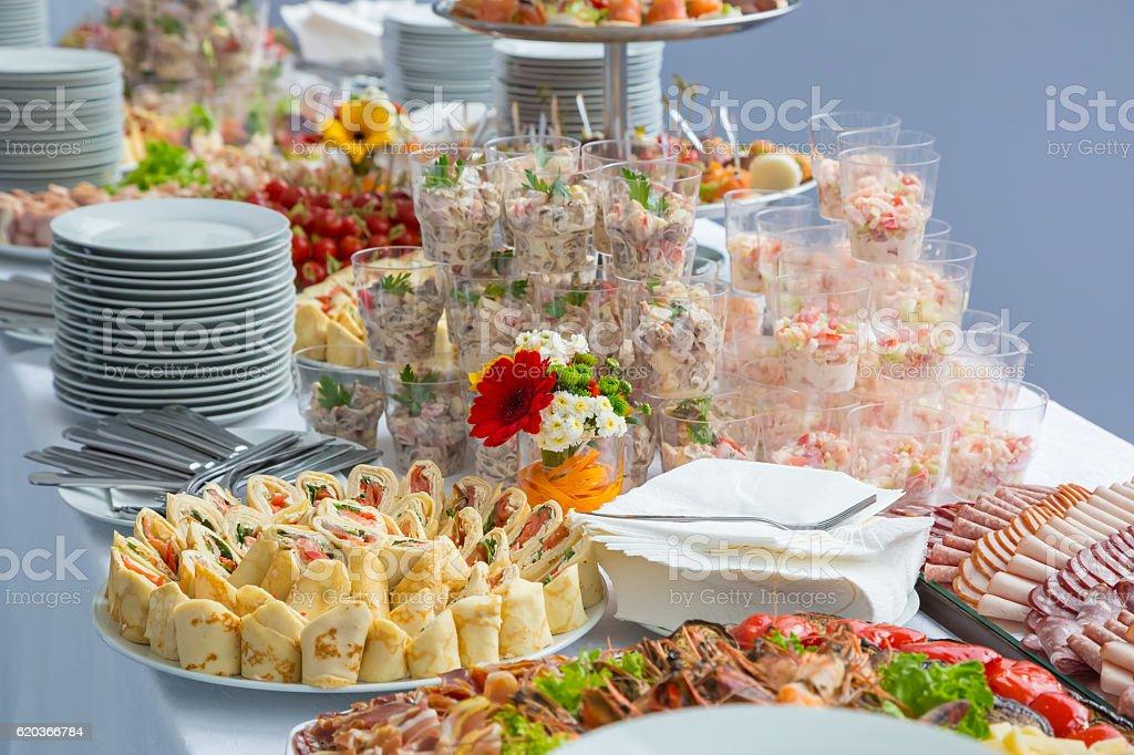 buffet table corporate zbiór zdjęć royalty-free
