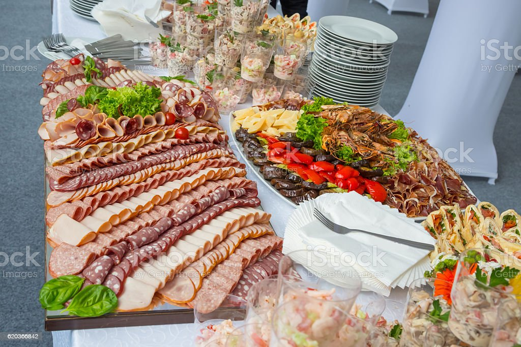 buffet table corporate foto de stock royalty-free