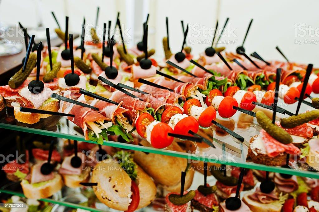 Холодные закуски для шведского стола