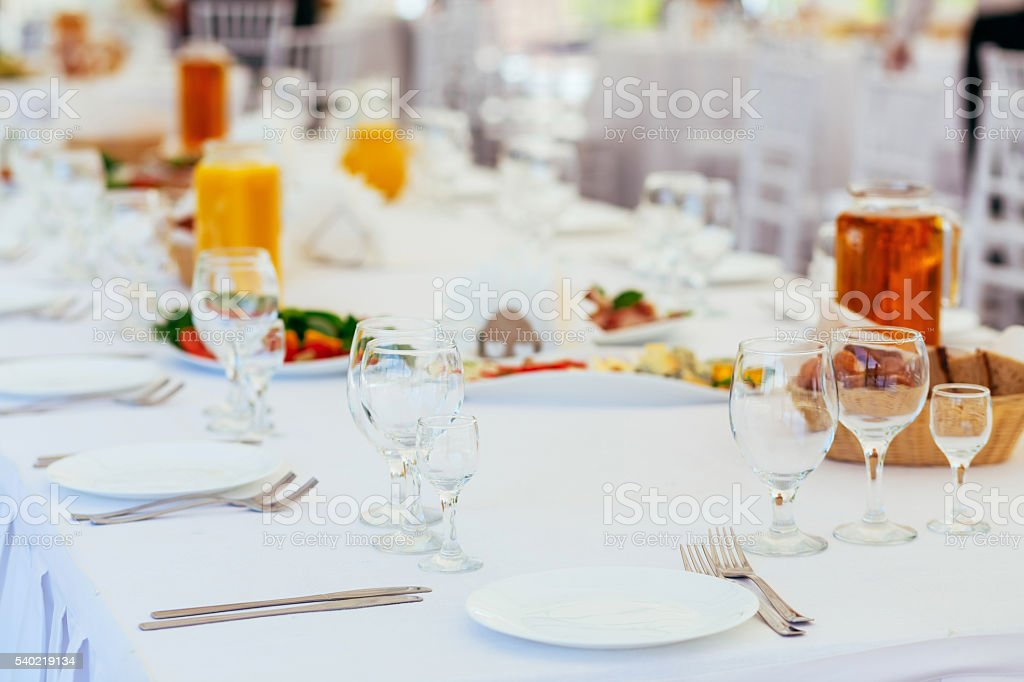 Buffet Table Setting Stock Photo   Download Image Now   IStock