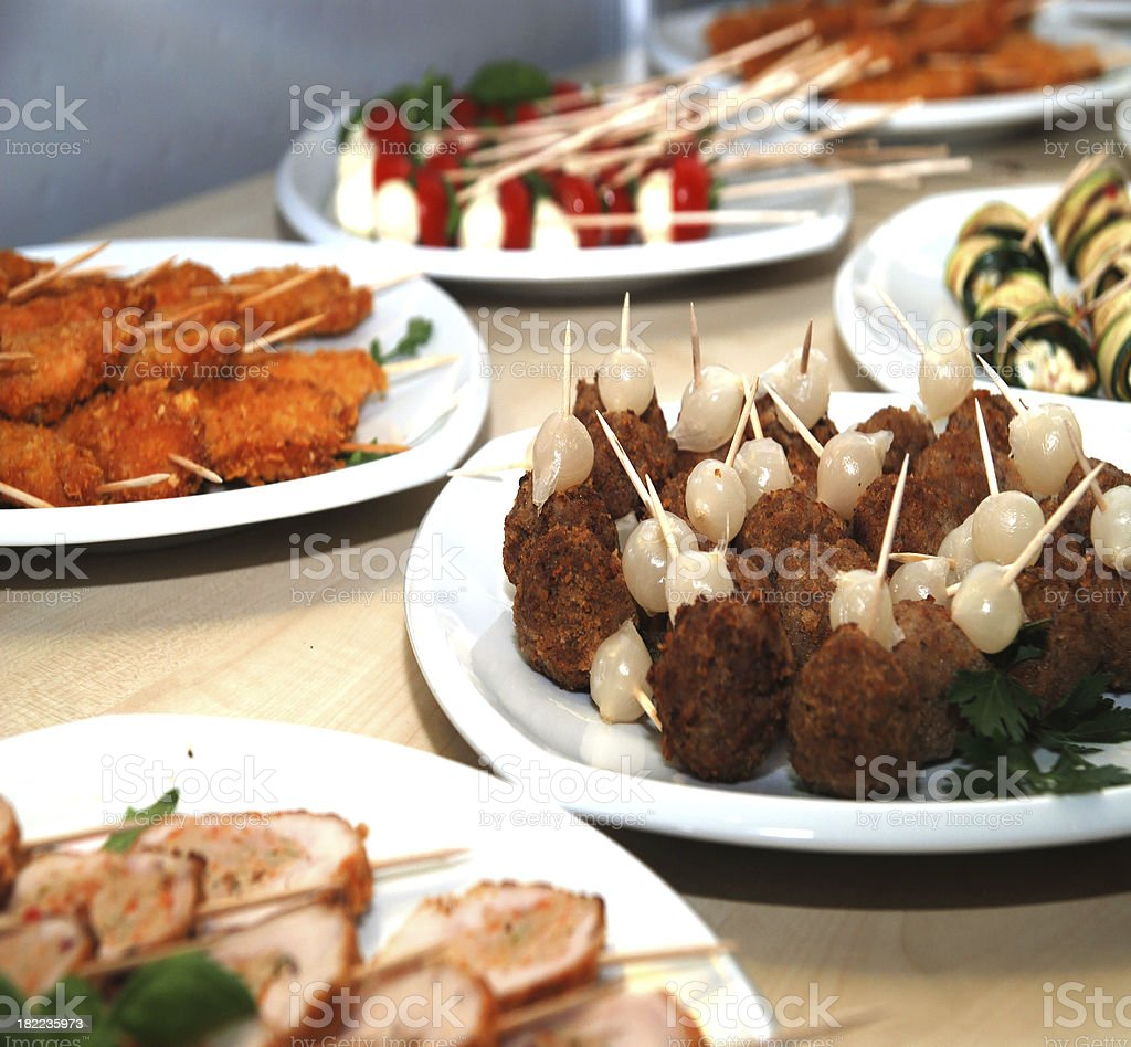 buffet with fingerfood royalty-free stock photo