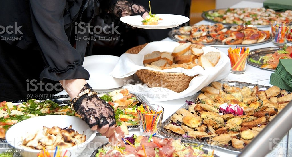 buffet with fried food royalty-free stock photo