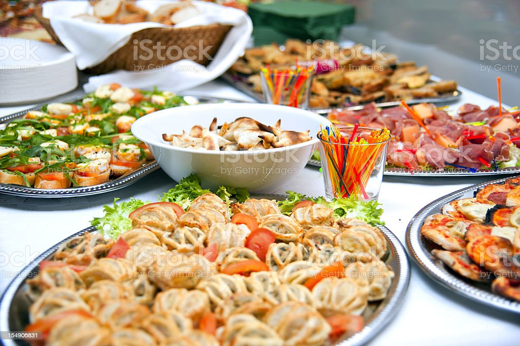 buffet with puff pastry royalty-free stock photo