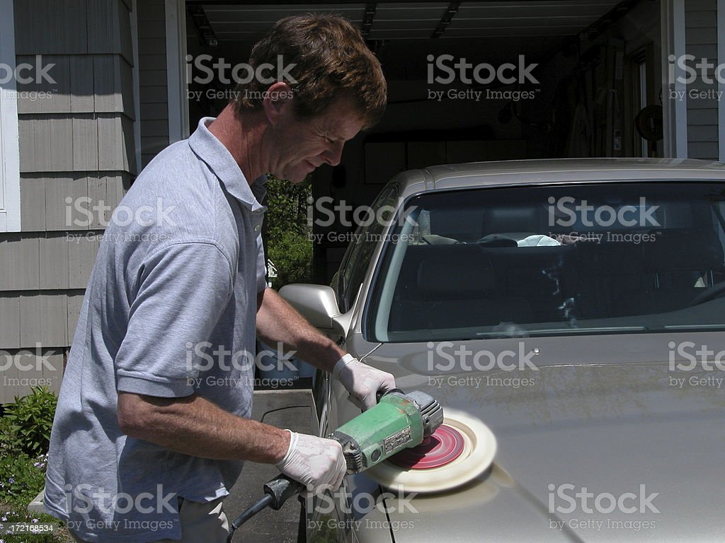 BUffing the car 3 royalty-free stock photo