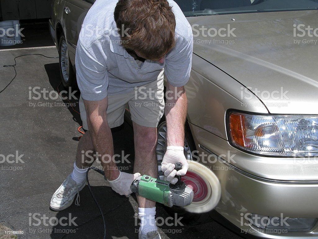 BUffing the car royalty-free stock photo
