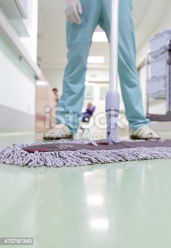 473158422 istock photo Buffing the floor. cleaner is ready to work. 470797340