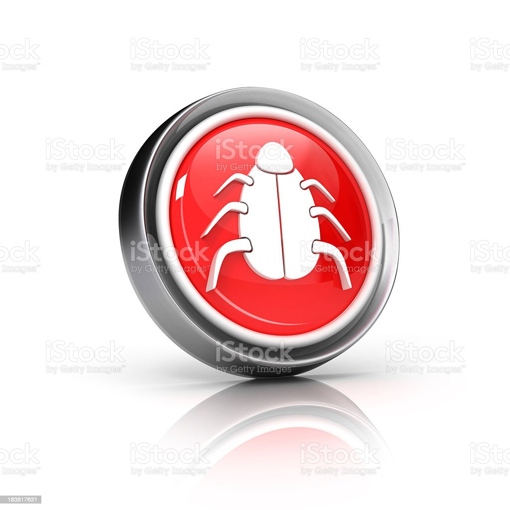 bug or virus icon royalty-free stock photo