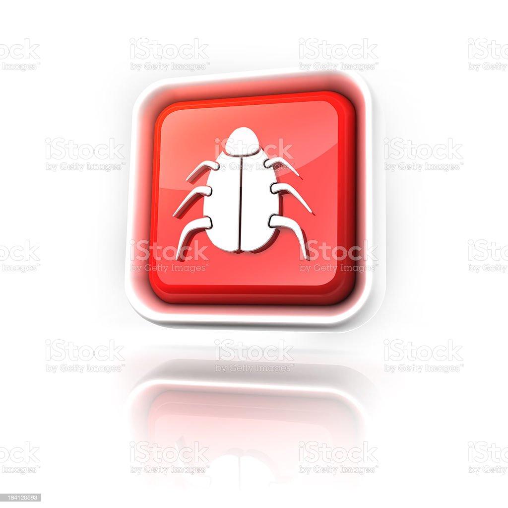 bug or virus icon royalty-free stock photo