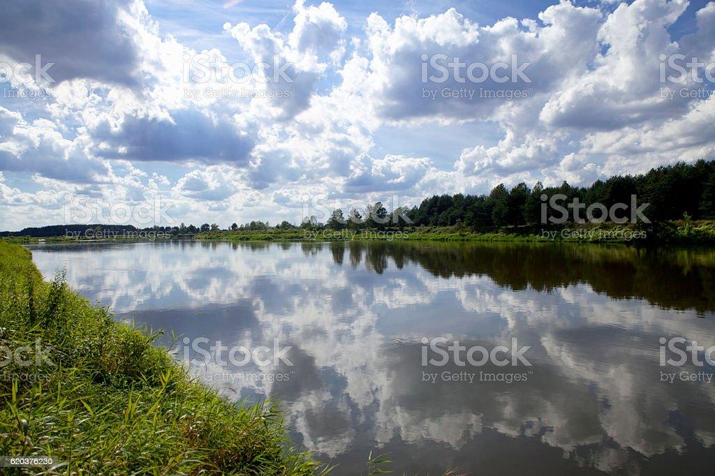 Rzeka błędów w Polsce zbiór zdjęć royalty-free