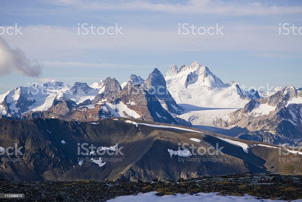 Cadena de montañas de Bugaboo foto de stock libre de derechos