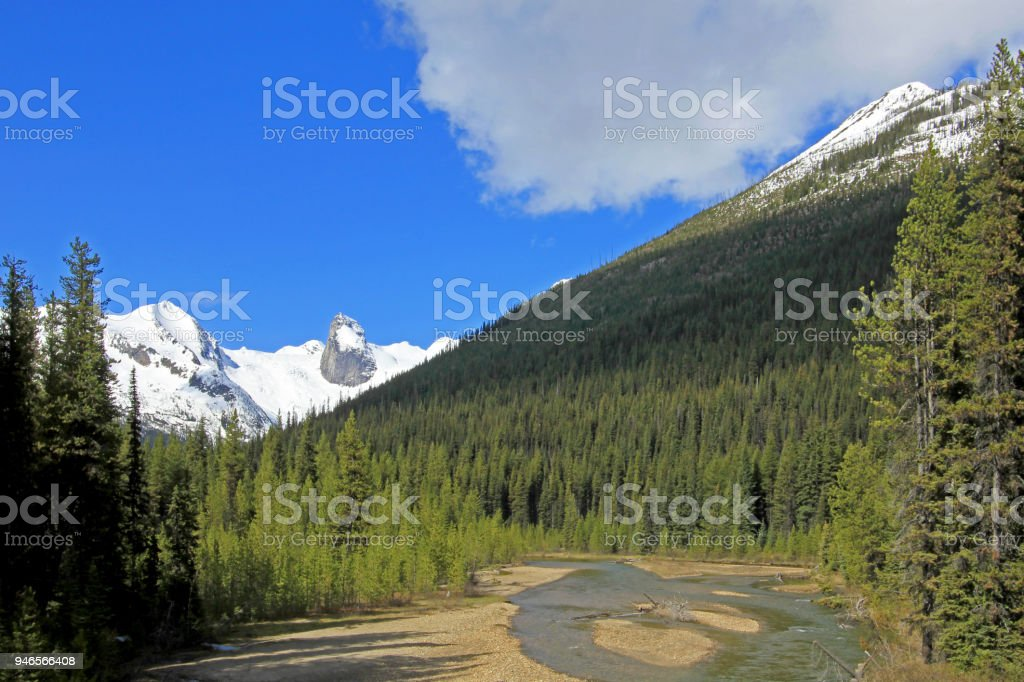 Bugaboo Spires in Bugaboo Provincial Park, British Columbia stock photo
