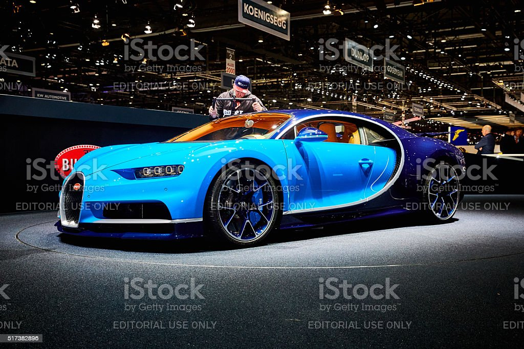 2016 Bugatti Chiron stock photo