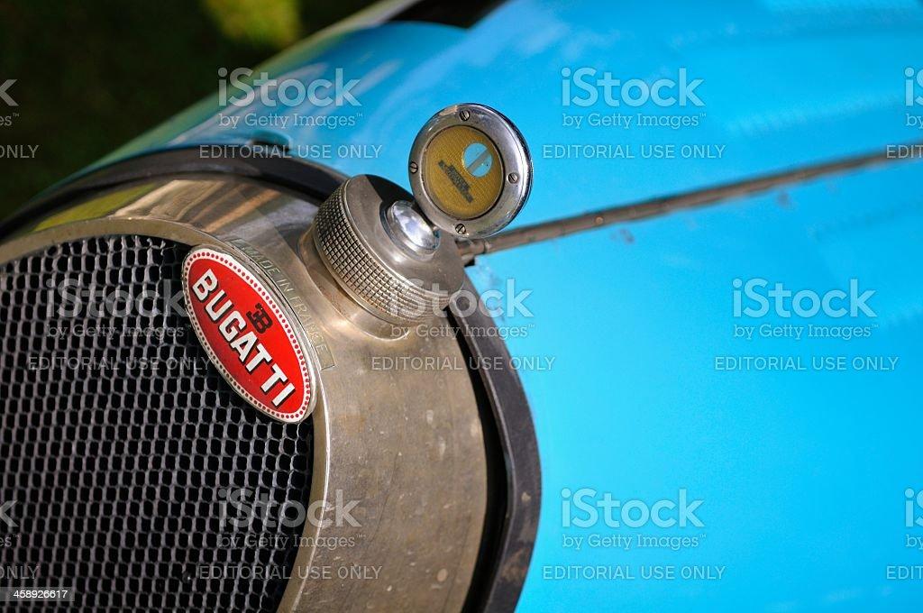 Bugatti grille stock photo