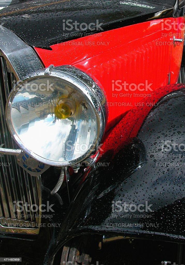 Bugatti headlight stock photo