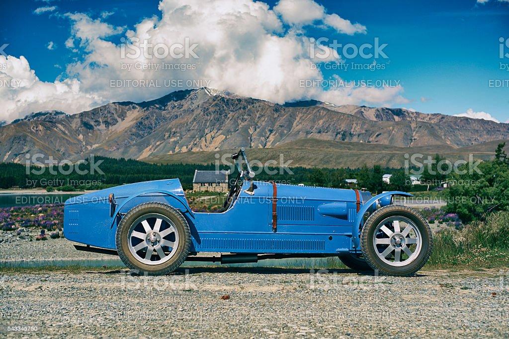 Bugatti Replica At Lake Tekapo stock photo