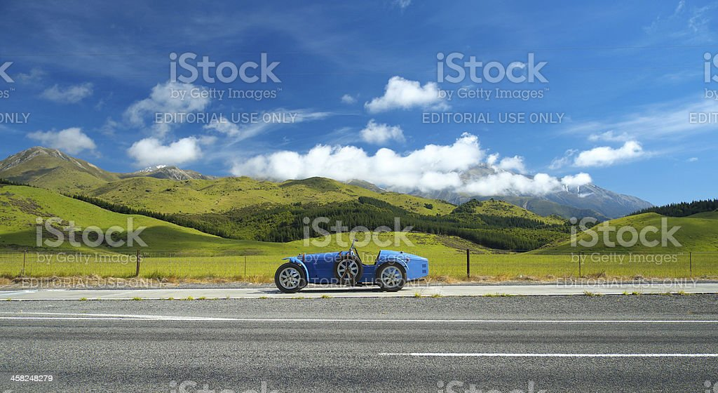 Bugatti Replica & Kiwi Landscape stock photo