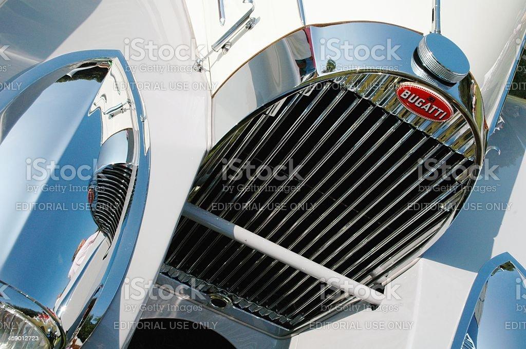 Bugatti T57 C Roadster detail stock photo