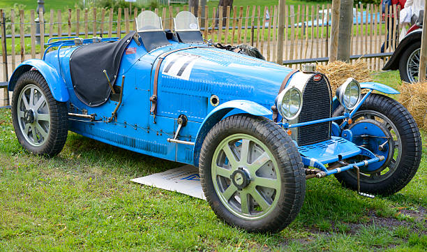 Bugatti Type 35 vintage race car stock photo