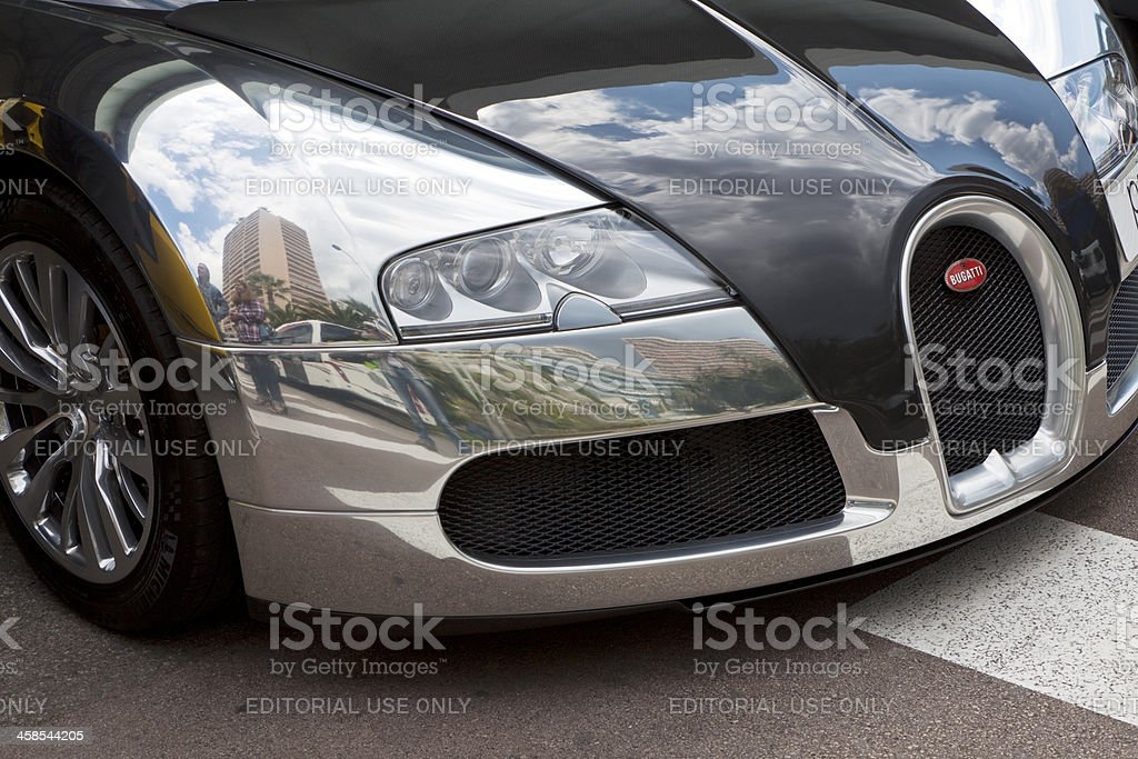 Bugatti Veyron black and chrome stock photo