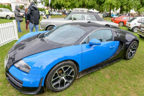 Bugatti Veyron EB 16.4 Mid-engine, four-wheel drive, two-door coupé hypercar stock photo