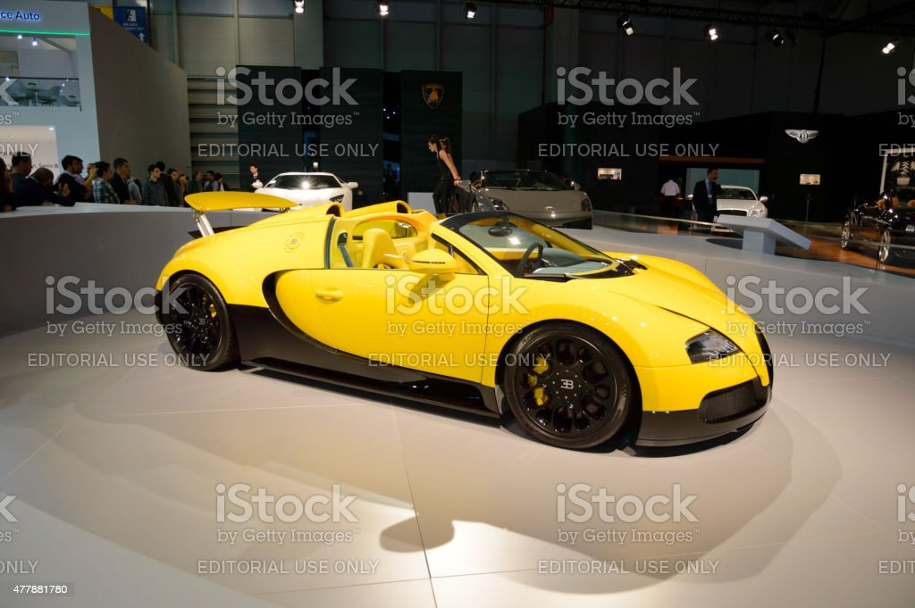 Bugatti Veyron EB Grand Sport stock photo
