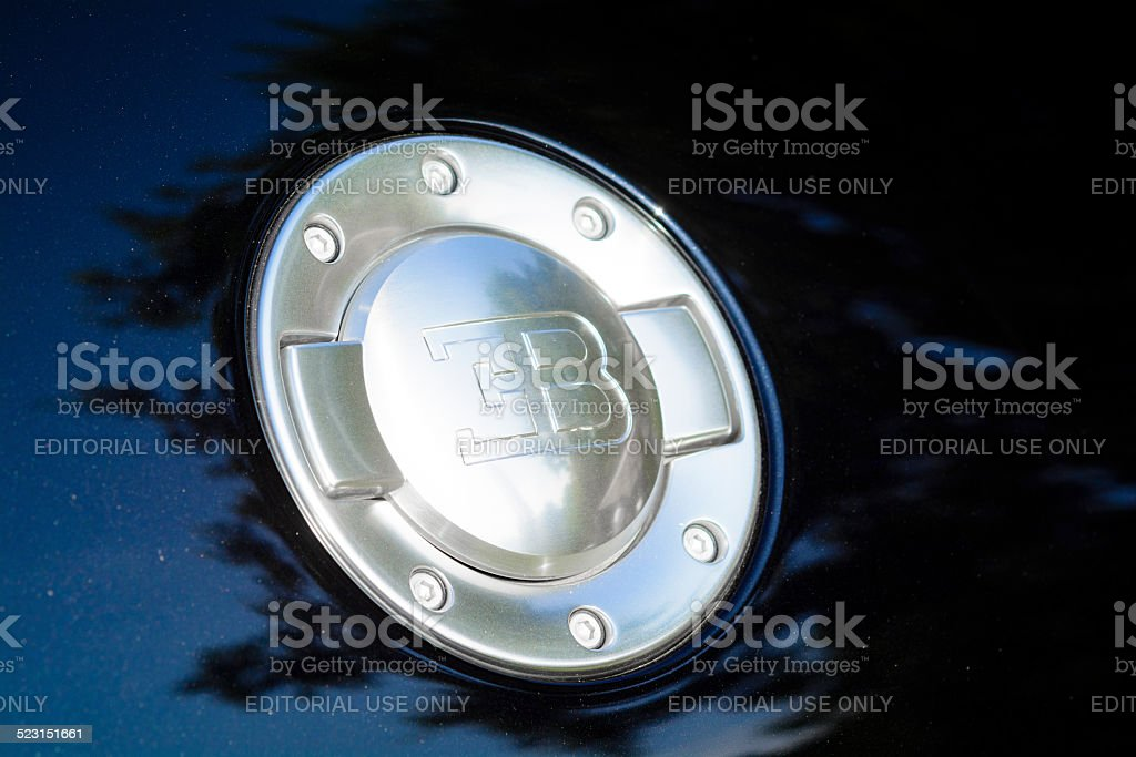 Bugatti Veyron fuel cap stock photo