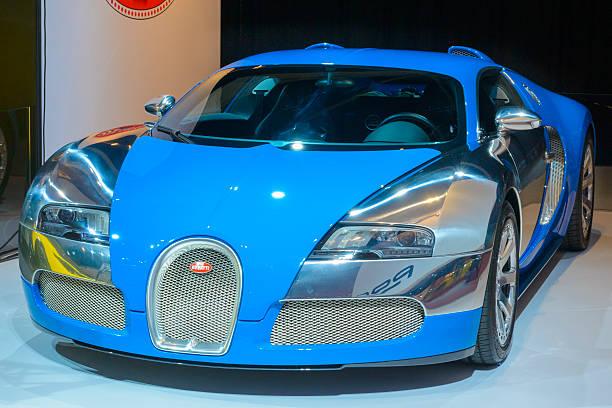 Bugatti Veyron supercar front view stock photo