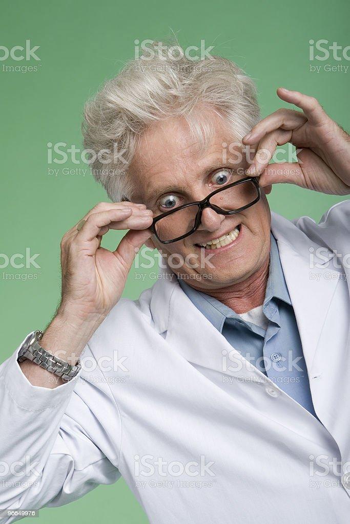 Bug-Eyed professor royalty-free stock photo