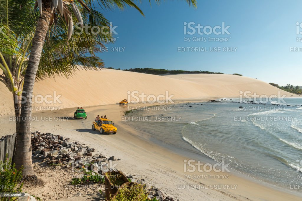 Buggy Bugre in Genipabu beach Natal stock photo