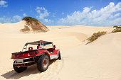 buggy car in the sand dunes.
