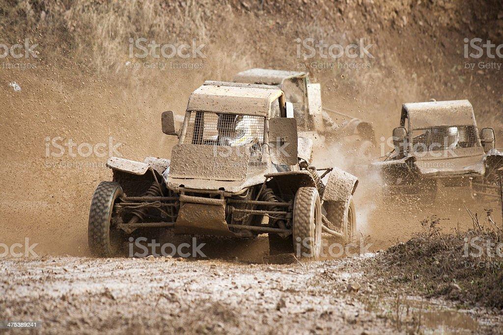 Buggy racing stock photo