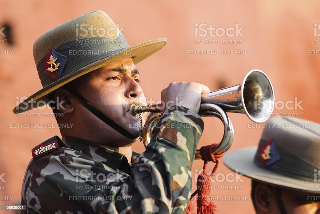 Bugle Salute stock photo