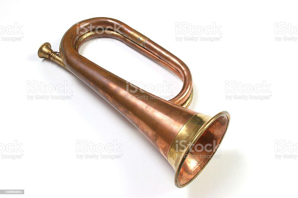Bugler isolated royalty-free stock photo