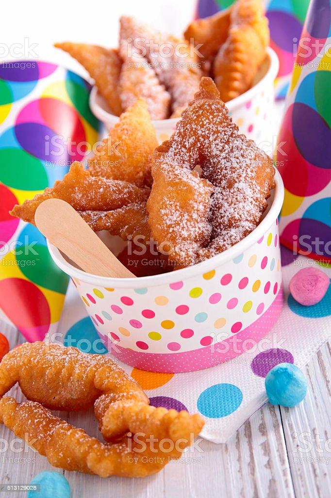 bugne,french donut stock photo