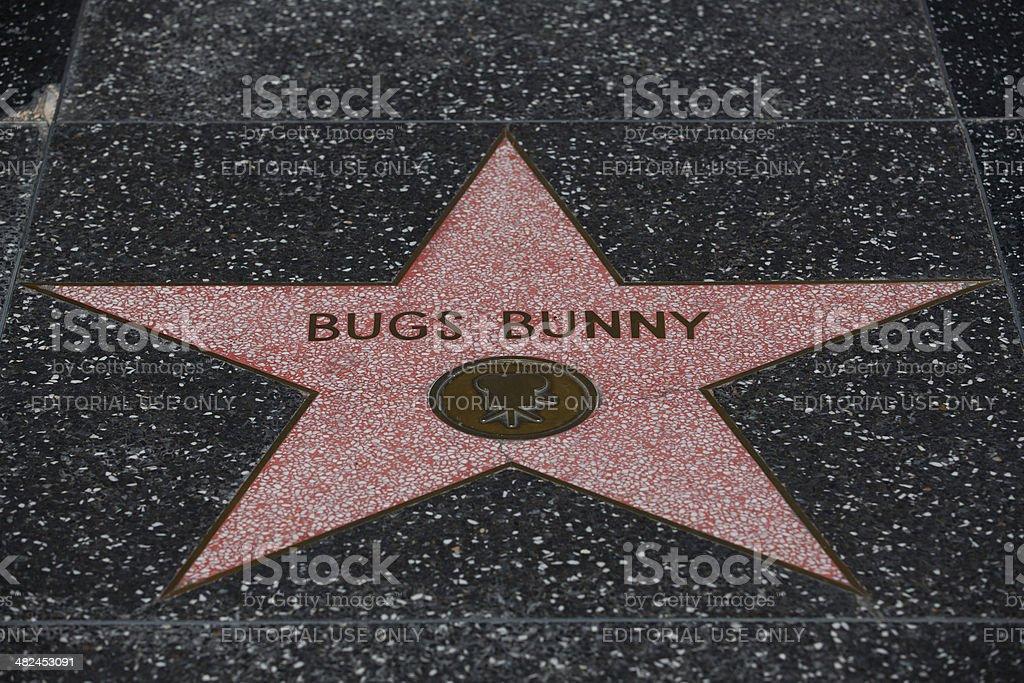 Bugs Bunny's star stock photo