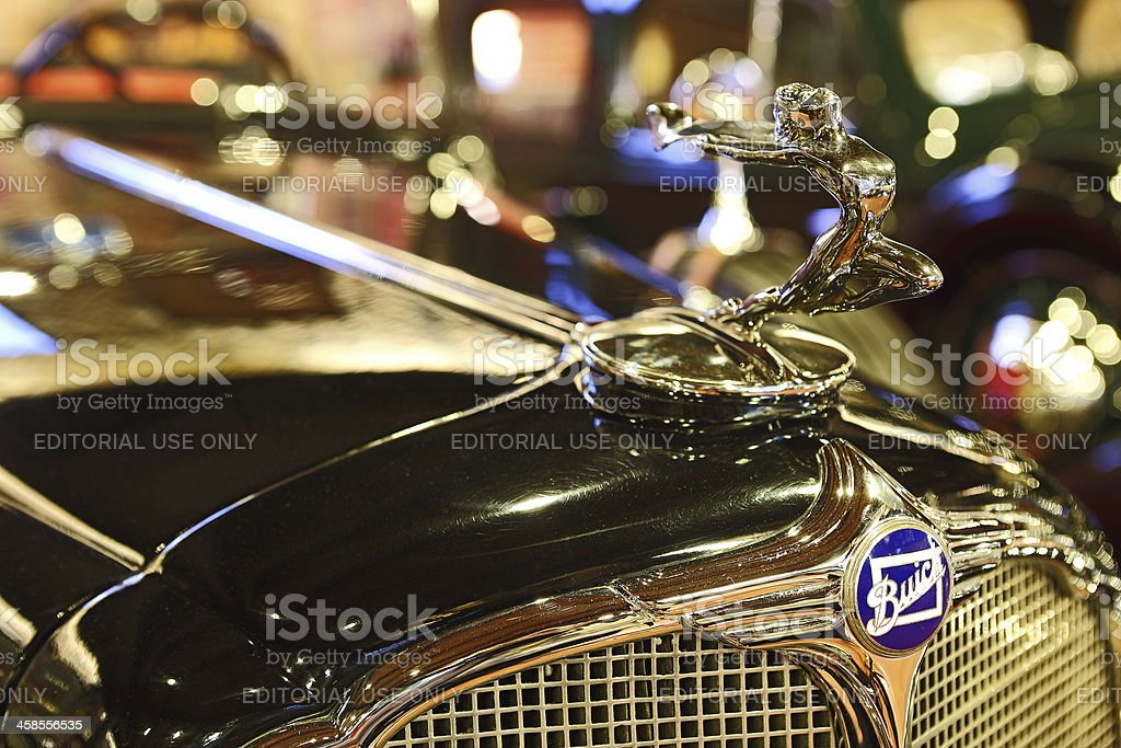 Buick Logo and Hood Ornament stock photo