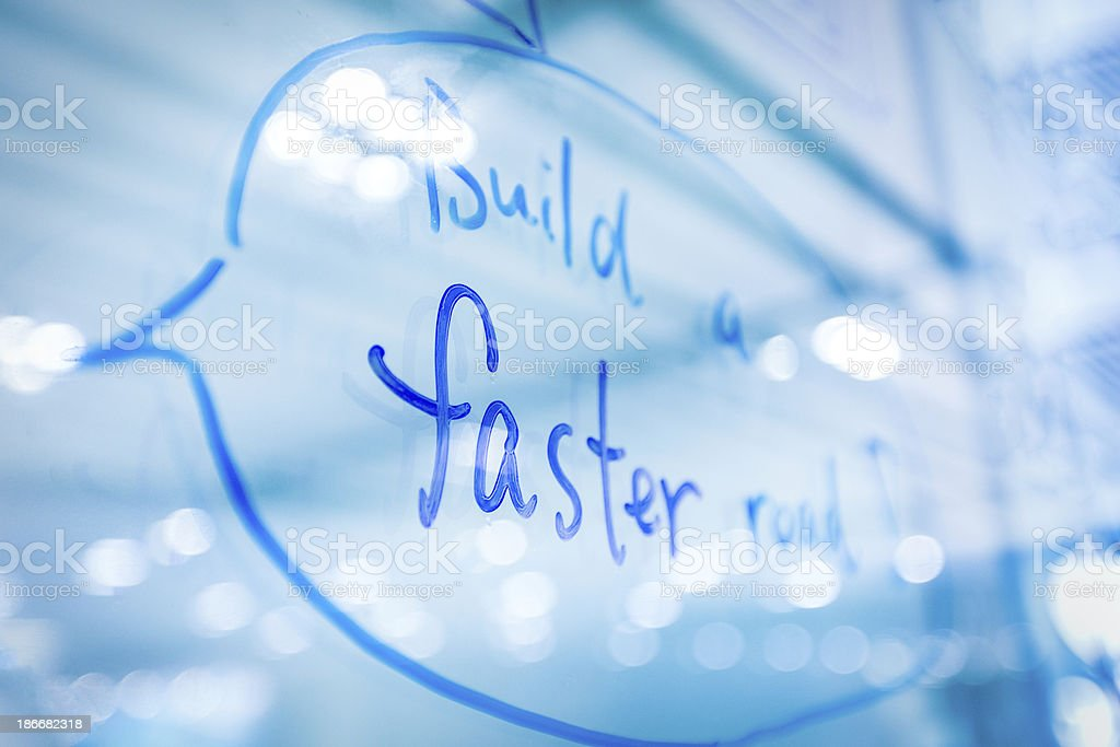 Build A Faster Road royalty-free stock photo