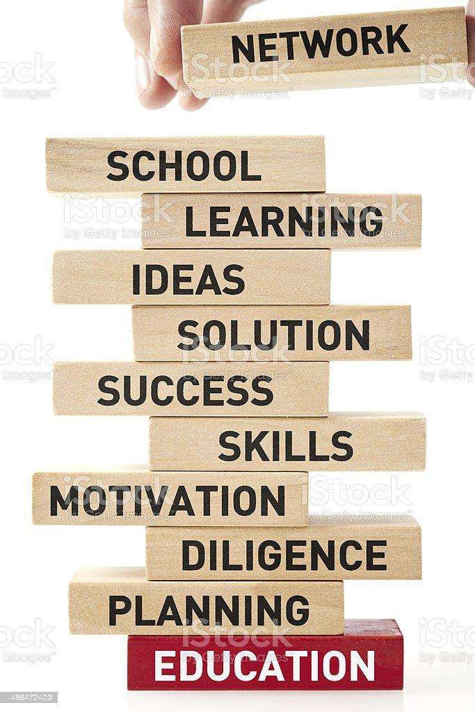Build Education royalty-free stock photo