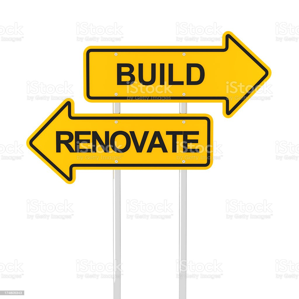 Build or renovate royalty-free stock photo