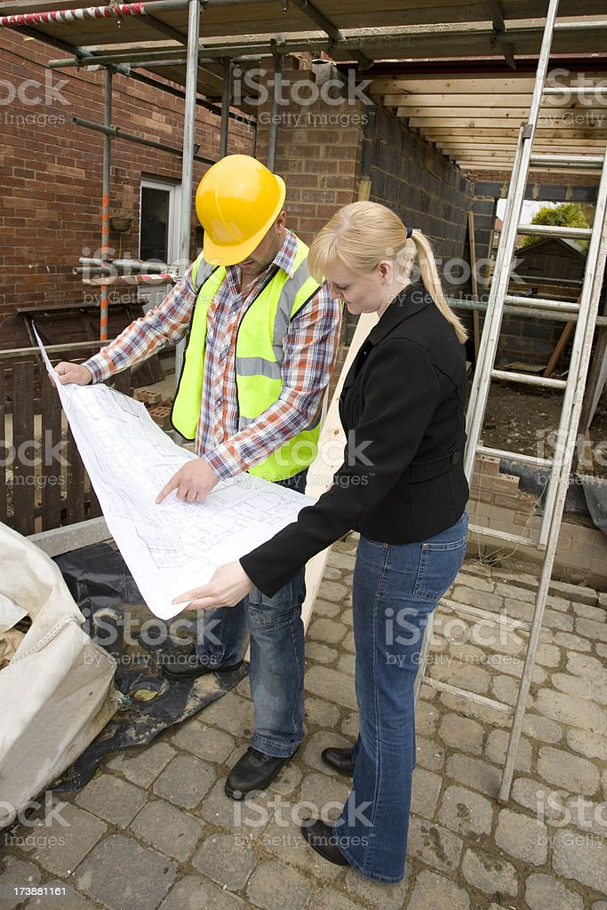 Builder and Client royalty-free stock photo
