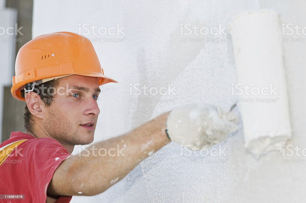 builder Fassade Maler bei der Arbeit – Foto