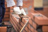 masonry at a construction site