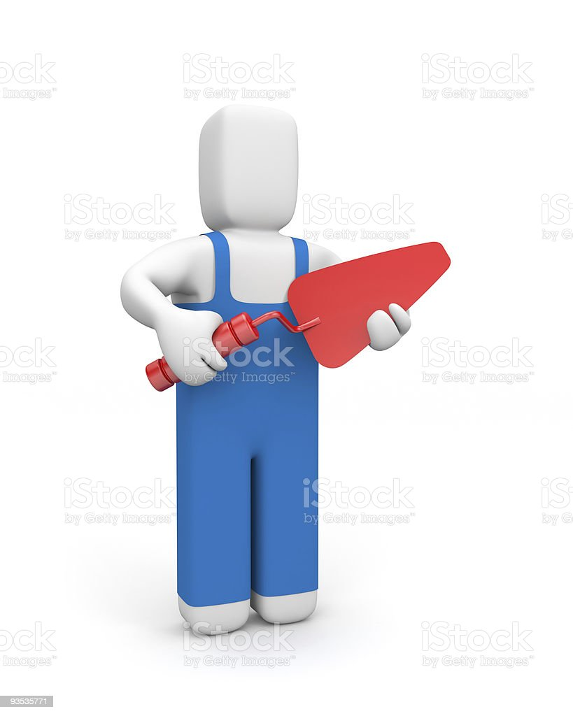 Builder. Manual worker concept royalty-free stock photo